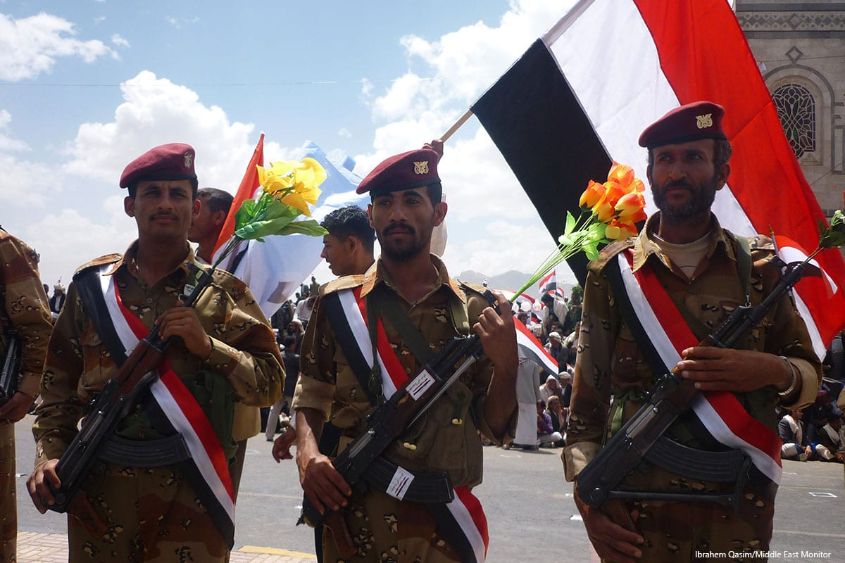 Image of Yemeni soldiers [Ibrahem Qasim/Middle East Monitor]