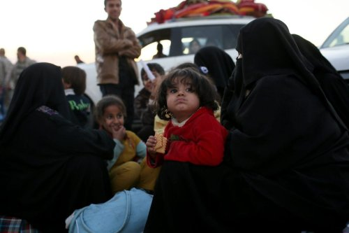 Iraq children are seen at a refugee camp after escaping from Mousl , Iraq [Yunus Keleş/Anadolu Agency]