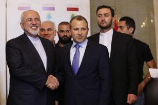 BEIRUT, LEBANON - NOVEMBER 07: Lebanese Foreign Minister Gebran Bassil (C) and Iranian Minister of Foreign Affairs, Mohammad Javad Zarif (L) shake hands during their meeting in Beirut, Lebanon on November 07, 2016. ( Ratib Al Safadi - Anadolu Agency )