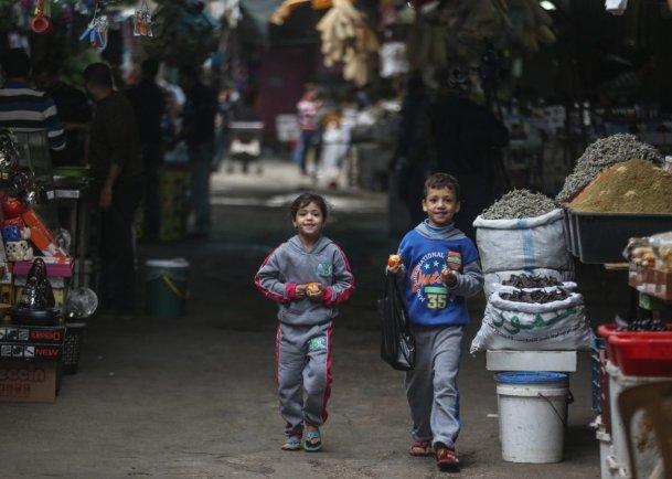 Image of Palestinian children on 20 November 2016 in Gaza City, Gaza [Ali Jadallah/Anadolu Agency]