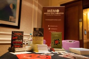 The Palestine Book Awards book stall on 18th November 2016 [Middle East Monitor]
