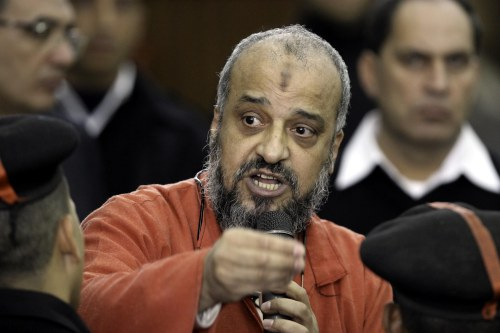 Muhammed el-Biltaci, one of the Muslim Brotherhood Leaders, in court in Egypt on November 24 2016 [Moustafa Elshemy/Anadolu Agency]