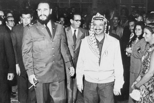 Fidel Castro with Palestinian leader Yasser Arafat in Cuba in December 1974 [image: The Arafat Foundation]