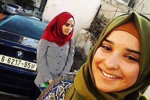 Nuran and her cousin Hadeel Awad, who was shot dead by Israeli men at age 14 [samidoun.net]