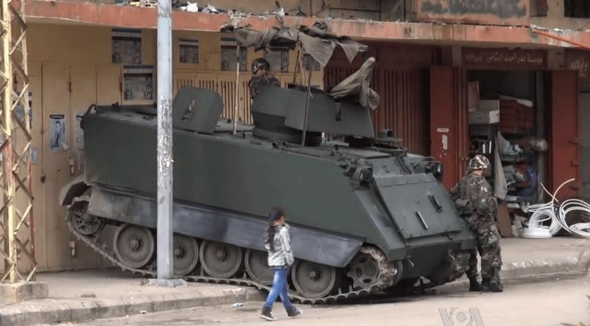 Lebanese army vehicle in Tripoli [James Brooke/Wikipedia]
