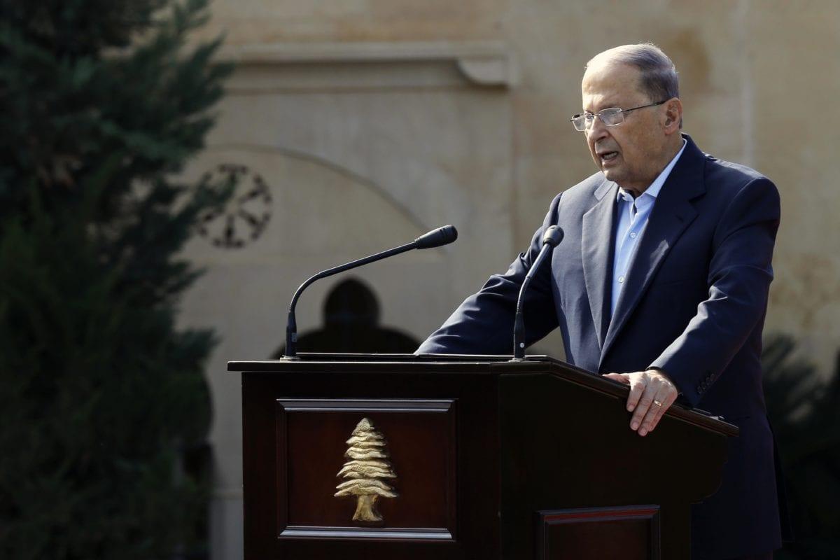Image of President of Lebanon Michel Aoun [Ratib Al Safadi/Anadolu Agency]