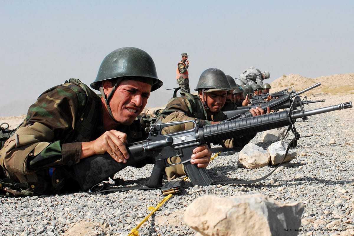 Image of Afghan combatants [NATO Training Mission-Afghanistan/Wikipedia]