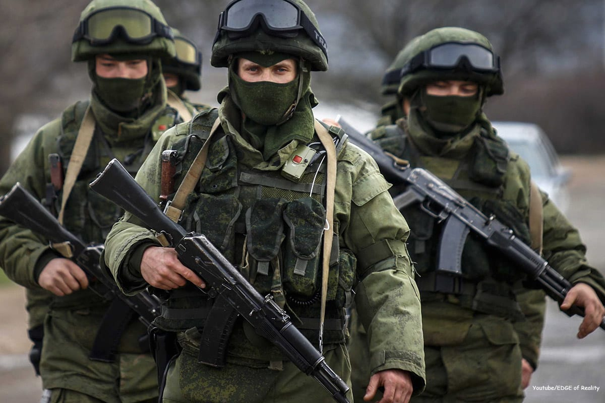 Image of soldiers from the Russian Army [Youtube/EDGE of Reality]