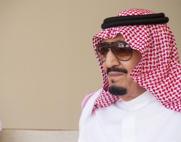 DUBAI, UAE - DECEMBER 5: King of Saudi Arabia Salman bin Abdulaziz visits Sheikh Saeed Al Maktoum House with Vice President of the United Arab Emirates Mohammed bin Rashid Al Maktoum (not seen) in Dubai, United Arab Emirates on December 5, 2016. ( Bandar Algaloud/ Saudi Kingdom/ Handout - Anadolu Agency )