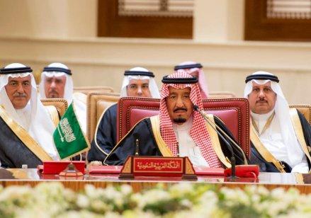 MANAMA, BAHRAIN - DECEMBER 6: King of Saudi Arabia, Salman bin Abdulaziz Al Saud attends the 37th Leaders Summit by Gulf Cooperation Council member states at Al-Sakhir Palace in Manama, Bahrain on December 6, 2016. ( Stringer - Anadolu Agency )