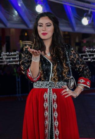 MARRAKECH, MOROCCO - DECEMBER 08: Moroccan actress Nessrin et Toumi attends the 16th Marrakech International Film Festival in Marrakech, Morocco on December 08, 2016. ( Jalal Morchidi - Anadolu Agency )