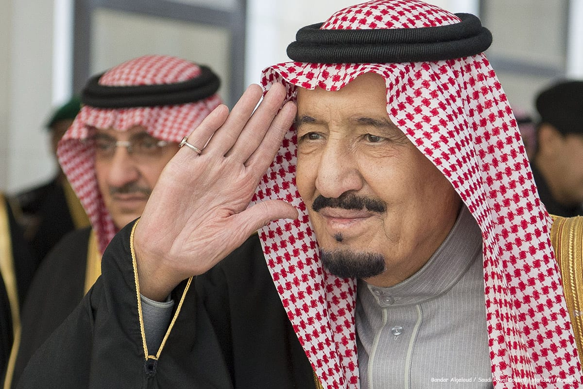 King of Saudi Arabia Salman bin Abdulaziz attends a Shura Council meeting in Riyadh, Saudi Arabia [Bandar Algaloud / Saudi Royal Council / Handout/Anadolu]