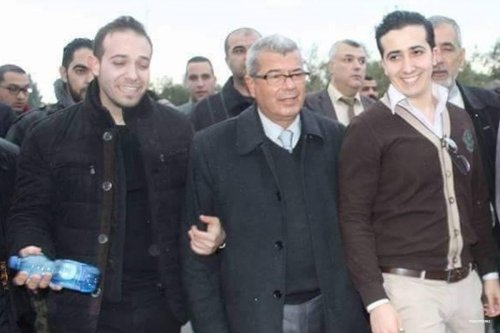 The Balboul brothers with Issa Qaraqe in Ramallah, shortly after their release on 8th December 2016 [maannews]