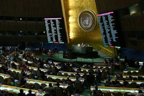Image of the UN General Assembly meeting on Syria in New York, US on December 9 2016 [Volkan Furuncu/Anadolu]