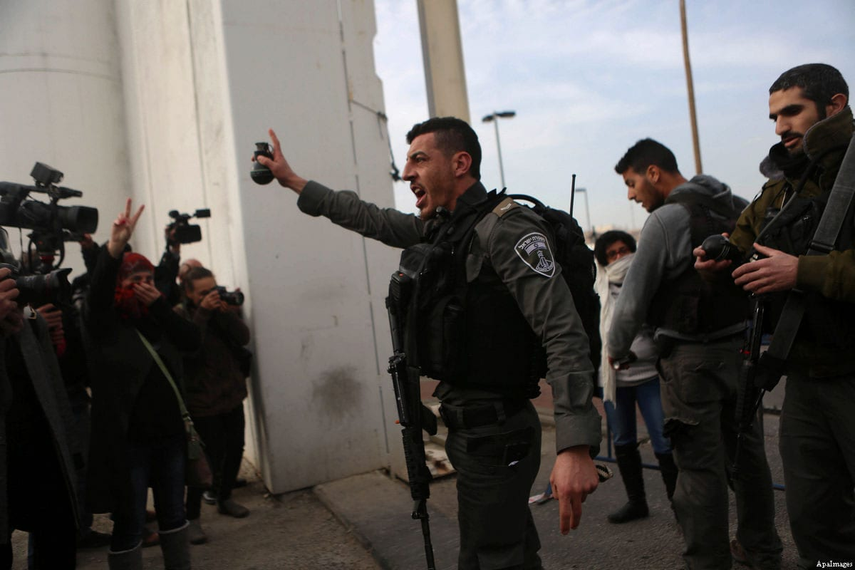 Israeli border guards in occupied West Bank [Shadi Hatem/ApaImages]