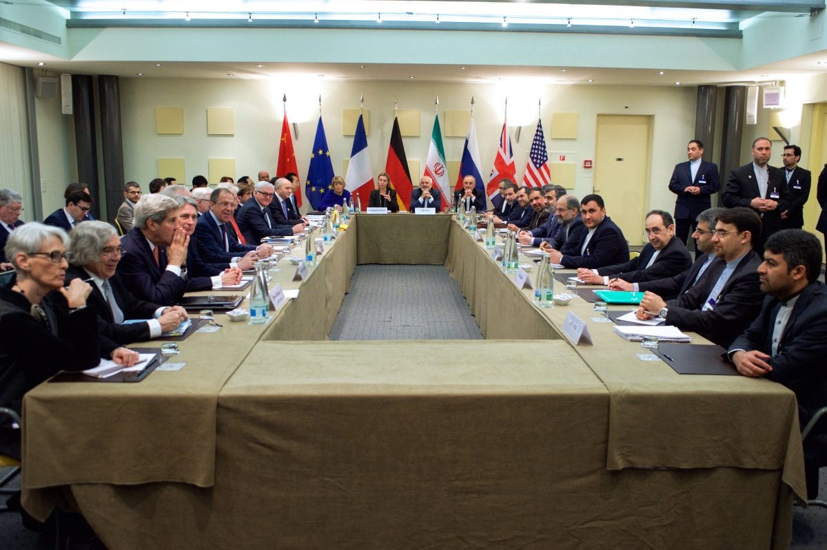 Image of meeting discussing Iran's nuclear programme on 30th March 2015 [United States Department of State/Wikipedia]