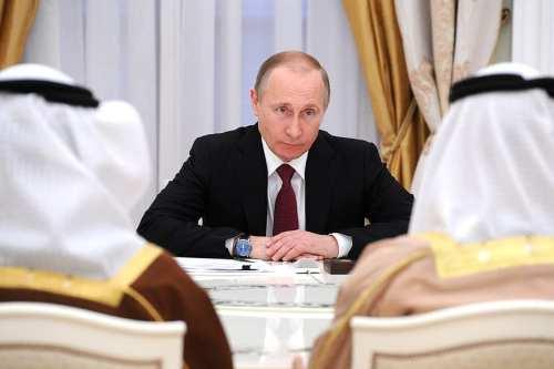 Russian President Vladimir Putin meets Crown Prince of Abu Dhabi Mohammed Al-Nahyan 24 March 2016. [Kremlin]