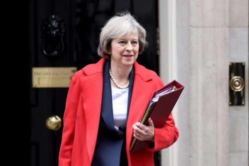 Image of the British Prime Minister Theresa May [Kate Green/Anadolu Agency]