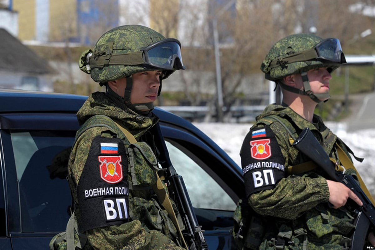 File photo of Russian Military Police [mil.ru]