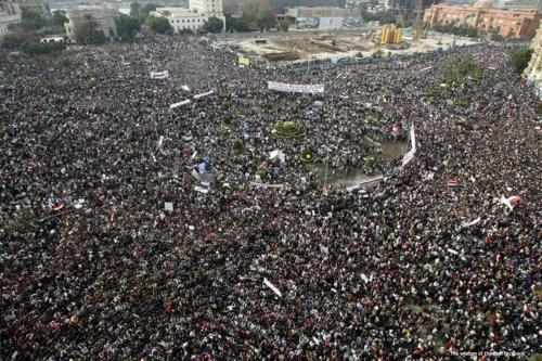 Egyptians come together, participating in the revolution that took place on 25th January 2011 [The wisdom of the day/Facebook]