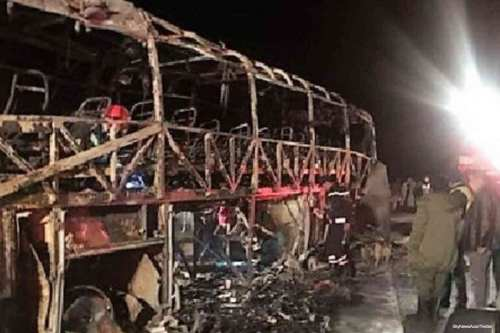 Deadly bus crash in Morocco on 8th January 2016 [SkyNewsAust/Twitter]
