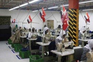 KHARTOUM, SUDAN - JANUARY 08 : Female textile workers in Turkish-Qatar textile factory, named Sur Textile Factory, in Khartoum, Sudan on January 08, 2017. ( Ebrahim Hamid - Anadolu Agency )