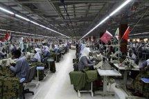 KHARTOUM, SUDAN - JANUARY 08 : Textile workers in Turkish-Qatar textile factory, named Sur Textile Factory, in Khartoum, Sudan on January 08, 2017. ( Ebrahim Hamid - Anadolu Agency )