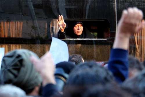 Daughter of the former President of Iran Akbar Hashemi Rafsanjani, Faezeh Hashemi Rafsanjani, 10 January 2017 [Mustafa Melih Ahıshalı/Anadolu]
