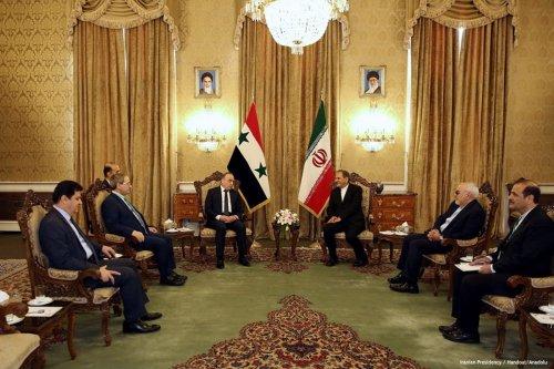 Image of Syrian Prime Minister Imad Khamis (L4) and Iranian Vice President, Eshaq Jahangiri (R3) in Tehran, Iran [Iranian Presidency / Handout/Anadolu]
