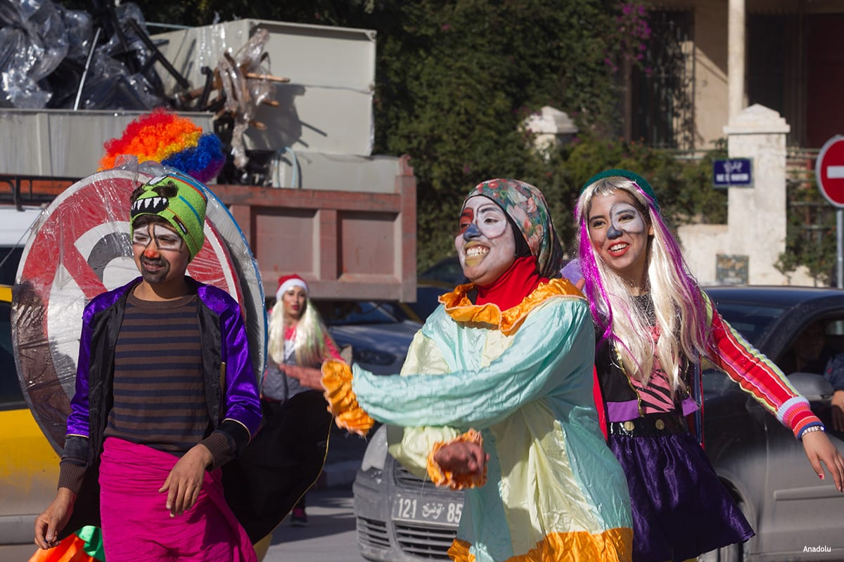 TUNIS, TUNISIA- Organised by the Ministry of Culture of Tunisia, the 'smile please' project is aimed at making people happier in the busyness of daily life so smile!