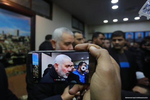 The deputy head of Hamas' political bureau, Ismail Haniyeh returns to Gaza [Mohammed Asad/middleeastmonitor]