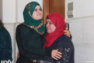 Marah Jawdat Moussa Bakir's family cry after hearing her sentence [Days of Palestine/Twitter]