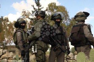 Image of Israeli military forces who aimed to demolish a Palestine home [safa]