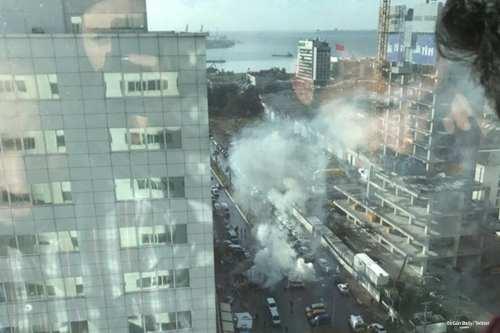Explosion near a courthouse in Turkey's Aegean coastal city of Izmir [BirGün Daily/Twitter]