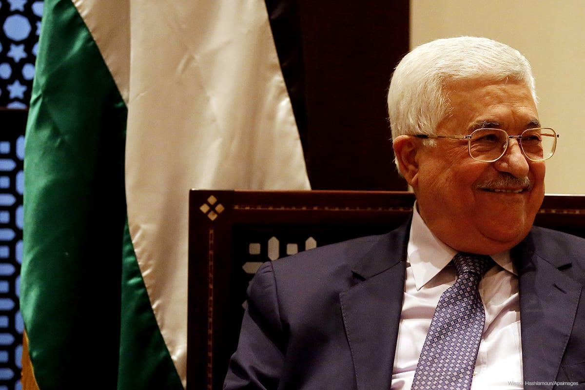Image of Palestinian president Mahmoud Abbas [Wisam Hashlamoun/Apaimages]