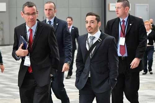 Image of Shai Masot with Israeli ambassador Mark Regev at a Labour party conference (R) [Amir Chowdry/Facebok]