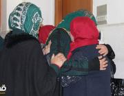 Marah Jawdat Moussa Bakir's family cry after being sentenced to eight-and-a-half years in prison [Days of Palestine/Twitter]