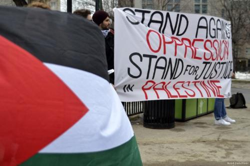 Image of a BDS rally [McGill Daily/Flickr]