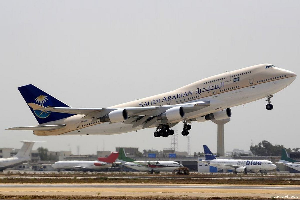 File photo of a Saudia airline's plane taking off [Asuspine/Wikipedia]