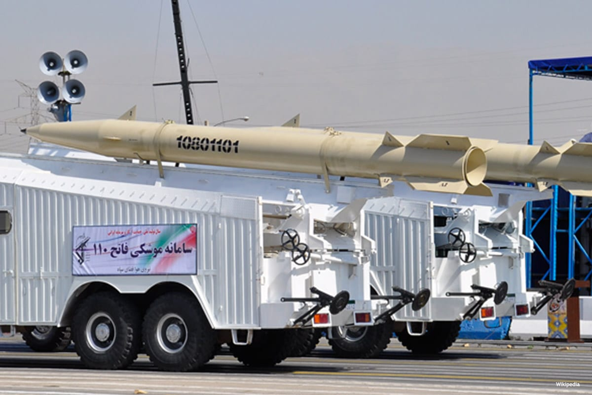 Image of Iranian air missiles [Wikipedia]