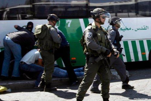 Image of Israeli police officers patrolling Jerusalem's Shuafat district [Saeed Qaq/Apaimages /Apaimages]