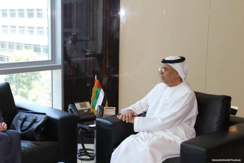 Image of UAE Minister of State for Financial Affairs Obaid Humaid Al Tayer [ DenmarkintheUAE/Facebook]