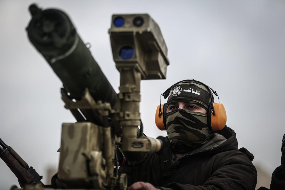 Members of the armed branch of Hamas, Qassam Brigades in Rafah, Gaza [Ali Jadallah - Anadolu Agency]