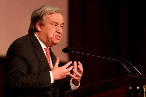 UN Secretary-General Antonio Guterres on February 15, 2017. ( Moustafa El-Shemy - Anadolu Agency )