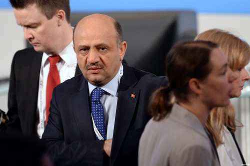 MUNICH, GERMANY: Turkish Minister of Defence Fikri Isik arrives at the 53rd Munich Security Conference (MSC) at Hotel Bayerischer Hof in Munich, Germany, on 17 February 2017. [Andreas Gebert/Anadolu Agency]
