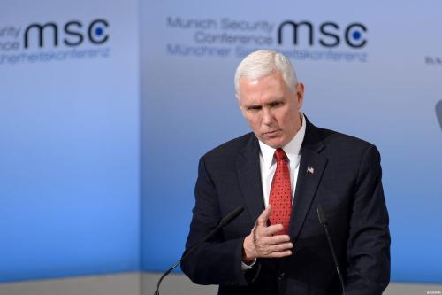 Image of US Vice President Mike Pence on February 18, 2017 [Andreas Gebert/Anadolu Agency]
