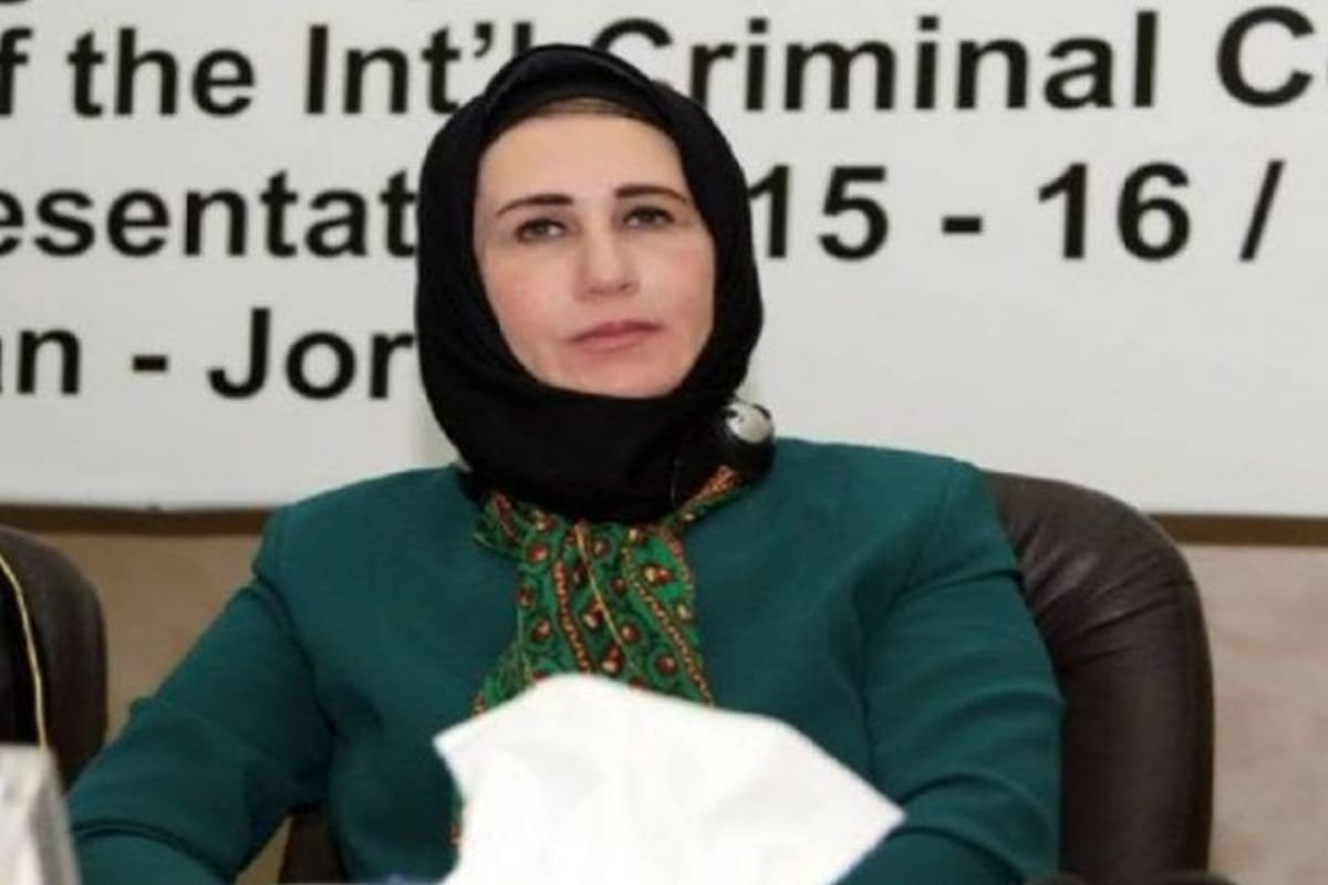 Image of Najat Abu Bakr, a member of the Palestinian Legislative Council (PLC)