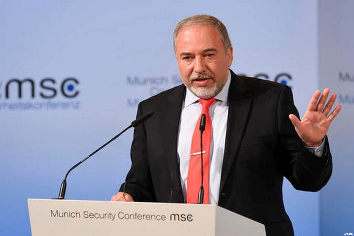 Israel's Defence Minister Avigdor Lieberman speaks at the 53rd Munich Security Conference (MSC) at Hotel Bayerischer Hof in Munich, Germany, on 18 Februrary, 2017