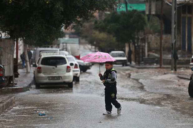 Heavy rains caused severe flooding across the Gaza Strip, leading to an evacuation of residents from low-lying districts on 16th February 2017.