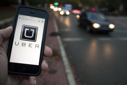 Uber app [File photo]